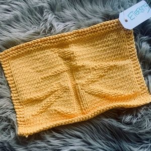 "Hand-knitted Dish cloth - ""Eternity"" (in Chinese)"